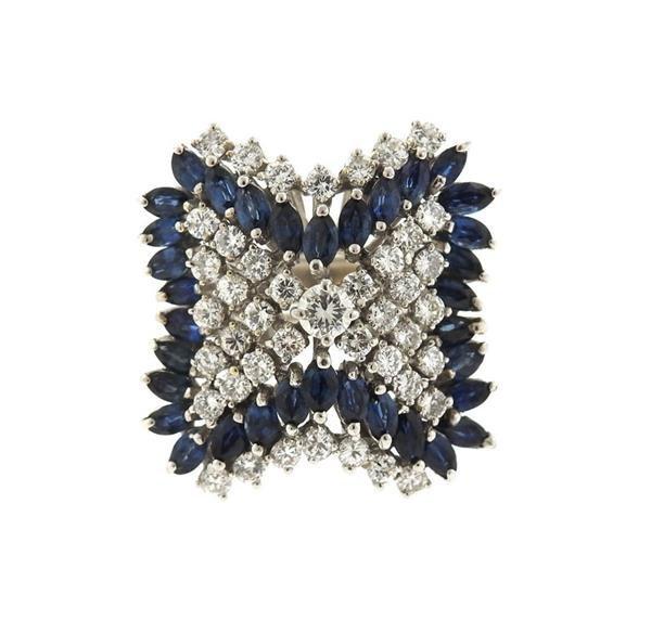 14k Gold 2.00ctw Diamond Sapphire Ring
