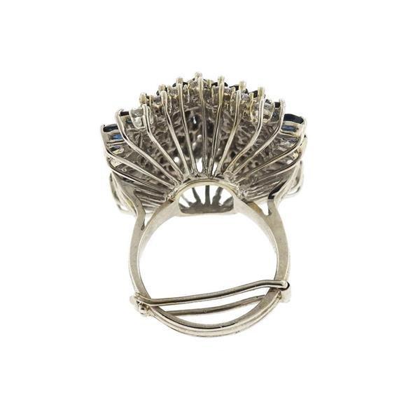 14k Gold 2.00ctw Diamond Sapphire Ring - 4
