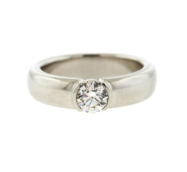Tiffany & Co Platinum 0.52ct VS1 H Engagement Ring