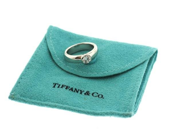 Tiffany & Co Platinum 0.52ct VS1 H Engagement Ring - 4