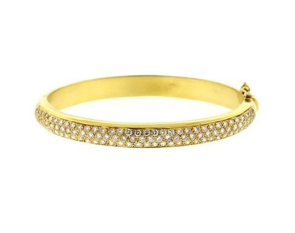 18k Gold Diamond Bangle Bracelet