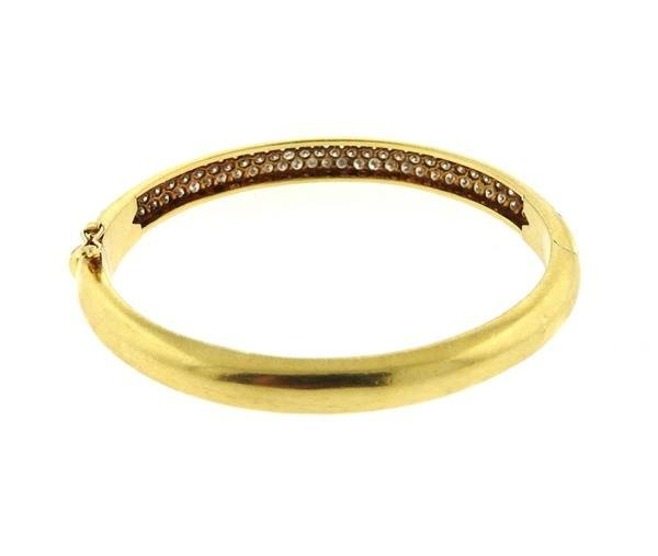 18k Gold Diamond Bangle Bracelet - 3