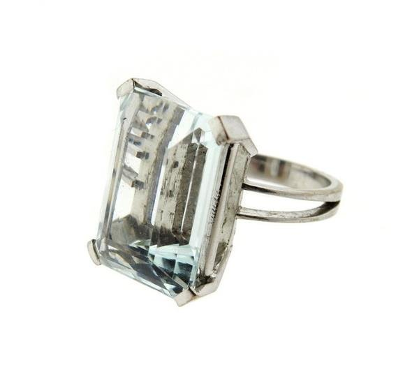 18k Gold 23ct Aquamarine Ring - 2
