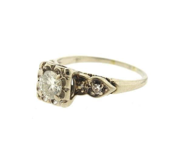 14k Gold Diamond Engagement Ring - 2