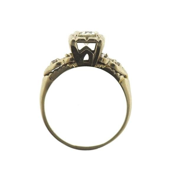 14k Gold Diamond Engagement Ring - 3