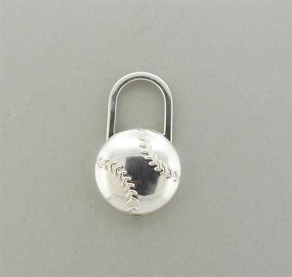 Tiffany & Co Sterling Baseball Key Chain