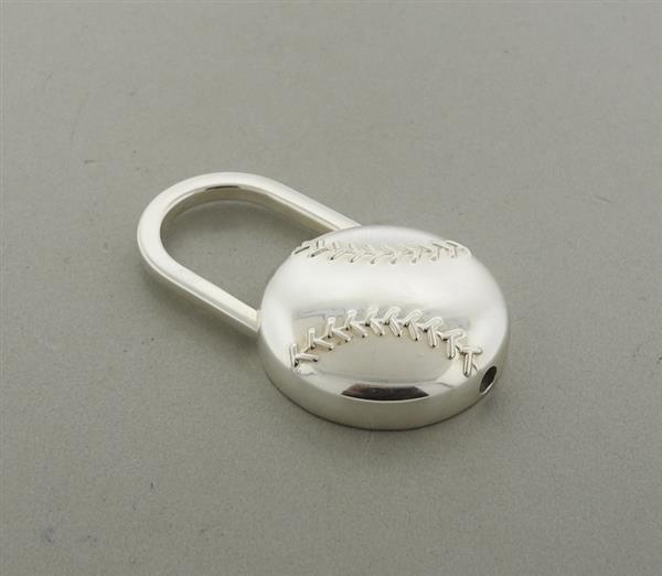 Tiffany & Co Sterling Baseball Key Chain - 2