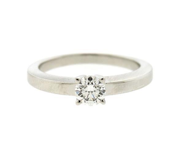 GIA Cartier Platinum 0.38ct G VS1 Diamond Engagement