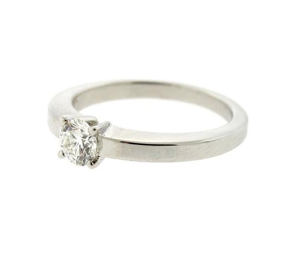 GIA Cartier Platinum 0.38ct G VS1 Diamond Engagement - 2