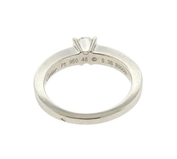 GIA Cartier Platinum 0.38ct G VS1 Diamond Engagement - 3