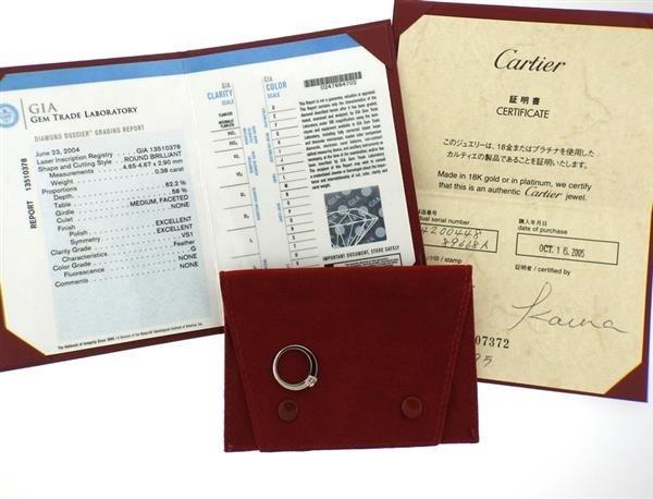 GIA Cartier Platinum 0.38ct G VS1 Diamond Engagement - 4
