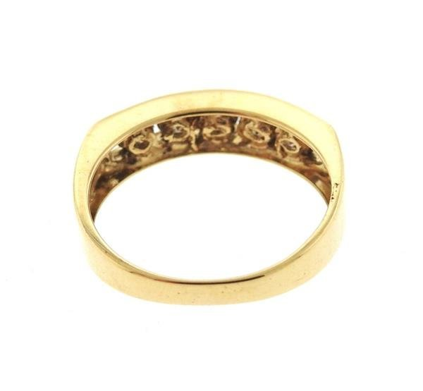 14K Gold Fancy Diamond  Band Ring - 3