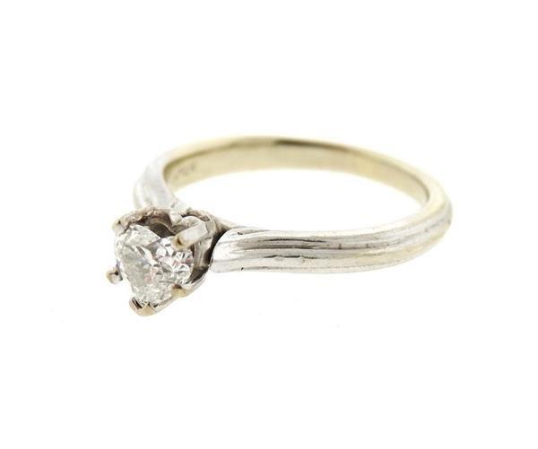 14k Gold Heart Diamond Engagement Ring - 2