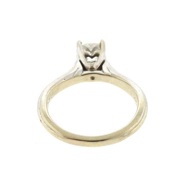 14k Gold Heart Diamond Engagement Ring - 3