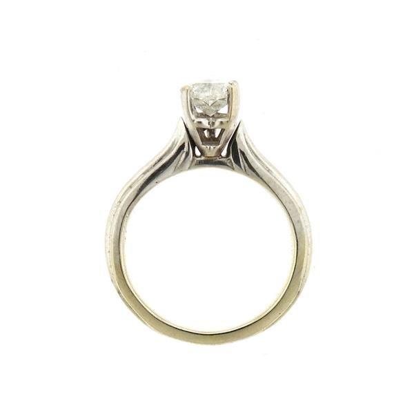 14k Gold Heart Diamond Engagement Ring - 4