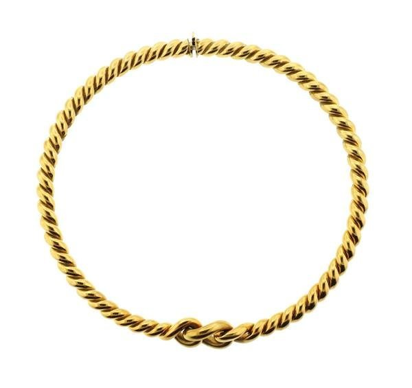 Weingrill 18k Gold Knot Necklace