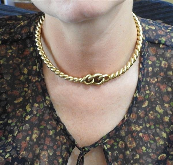 Weingrill 18k Gold Knot Necklace - 4