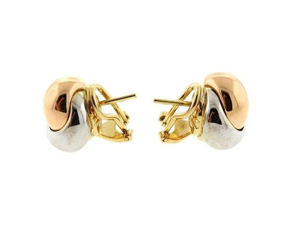 Cartier trinity 18k Tri Color Gold Knot Earrings - 3
