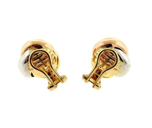 Cartier trinity 18k Tri Color Gold Knot Earrings - 4