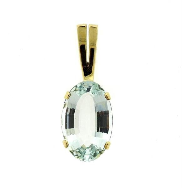 14k Gold 20.45ct Aquamarine Pendant