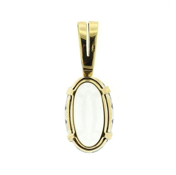 14k Gold 20.45ct Aquamarine Pendant - 3