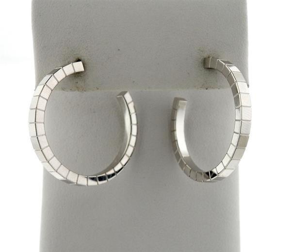 Cartier Lanieres 18K Gold Hoop Earrings