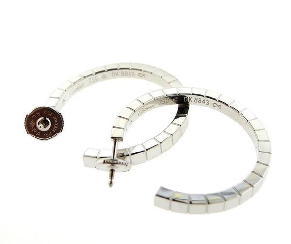Cartier Lanieres 18K Gold Hoop Earrings - 3