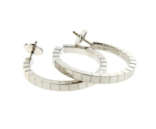 Cartier Lanieres 18K Gold Hoop Earrings - 4