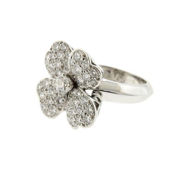 Van Cleef & Arpels VCA Cosmos 18K Gold Diamond Ring - 2