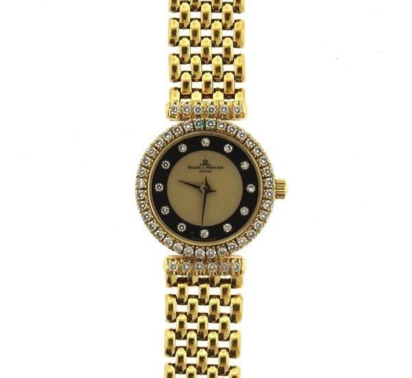 Baume & Mercier 18k Gold MOP Diamond Lady's - 3