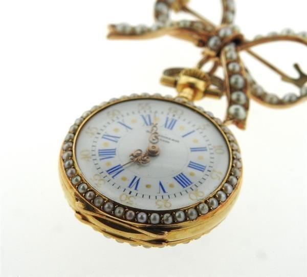 Patek Philippe Spaulding & Co 14k Gold Pearl Lapel - 3