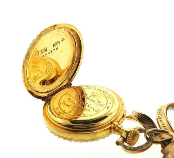 Patek Philippe Spaulding & Co 14k Gold Pearl Lapel - 5