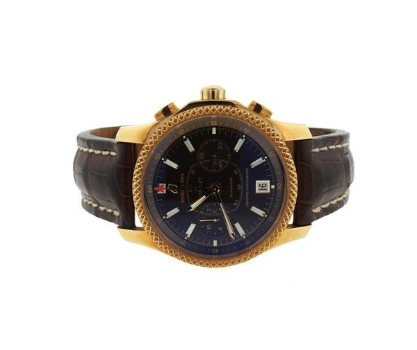 Breitling Bentley Mark VI 18K Rose Gold & Alligator