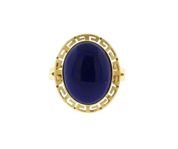14K Gold Lapis Cocktail Ring