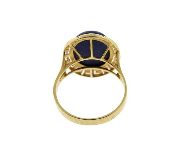 14K Gold Lapis Cocktail Ring - 3