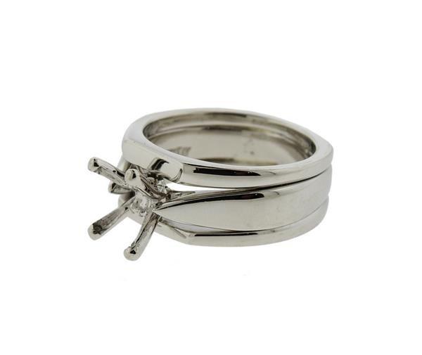 Scott Kay Platinum Engagement Ring Mounting - 2