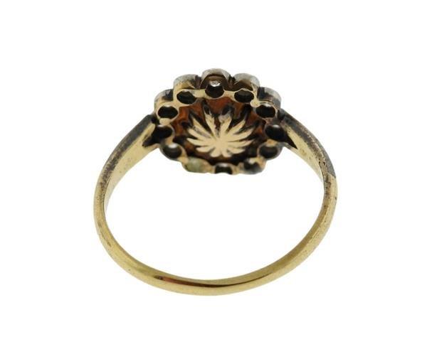 18K Gold Diamond Pearl Ring - 3