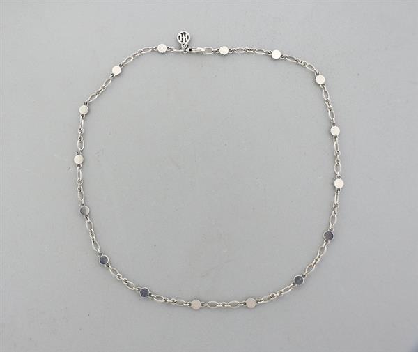 John Hardy Dot Sterling Silver Link Station Necklace