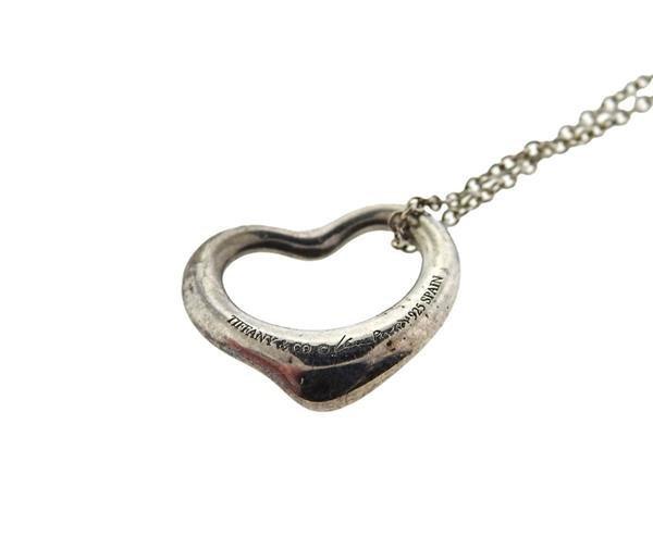 Tiffany & Co Elsa Peretti Sterling Open Heart - 3