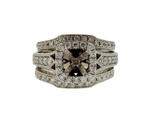 Neil Lane 14K Gold Platinum Diamond Bridal Ring