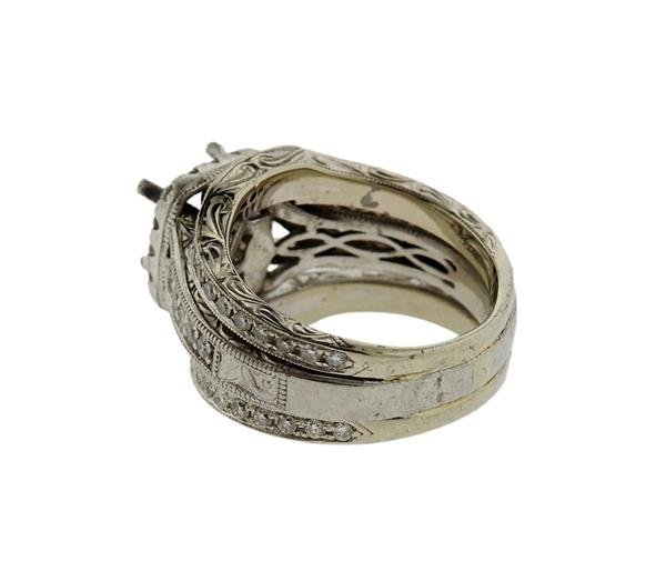Neil Lane 14K Gold Platinum Diamond Bridal Ring - 3
