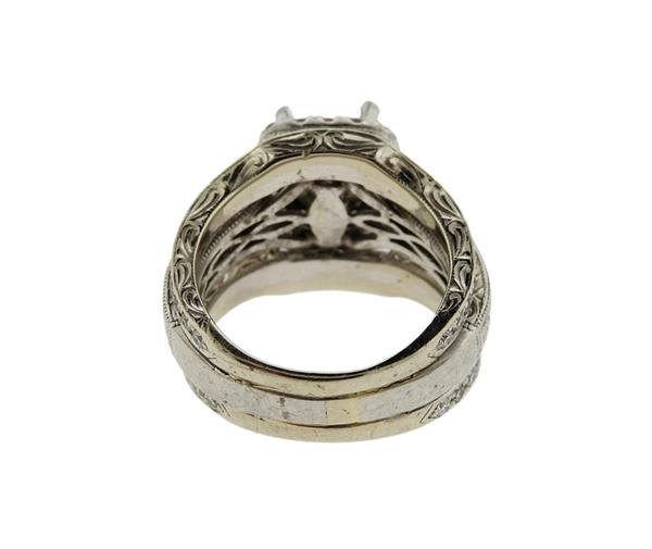Neil Lane 14K Gold Platinum Diamond Bridal Ring - 4
