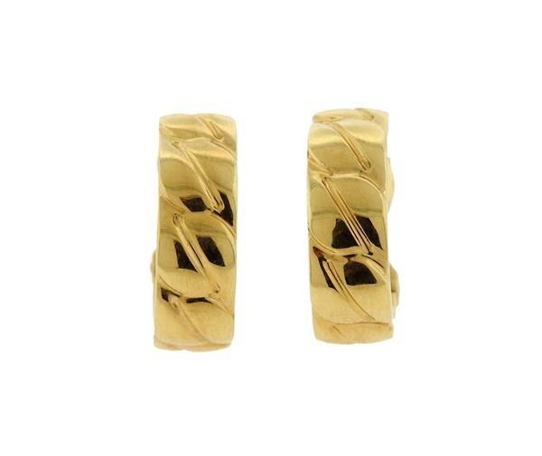 Cartier 18K Gold Hoops Earrings