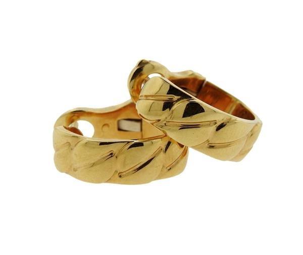 Cartier 18K Gold Hoops Earrings - 4