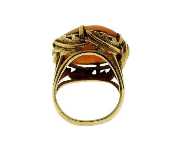 Antique 14K Gold Cameo Ring - 3