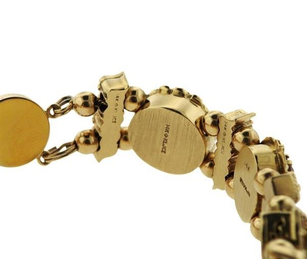 Vintage Joshua 14K Diamond Gold Multi Stone Slide - 4