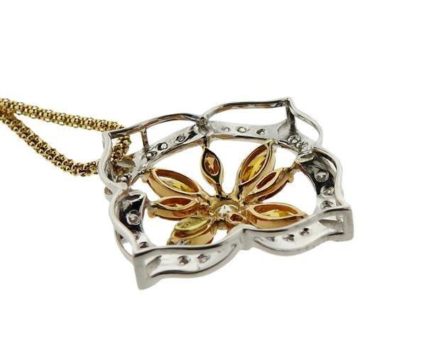 Italian 18K Gold Diamond Slide Pendant Necklace - 3