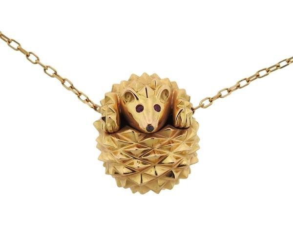 Boucheron 18K Gold Hans the Hedgehog Slide Pendant