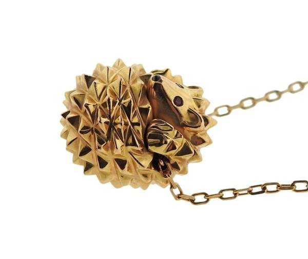 Boucheron 18K Gold Hans the Hedgehog Slide Pendant - 2