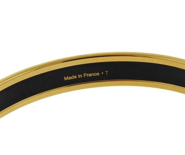 Hermes Signature Blue Enamel Bangle Bracelet - 2
